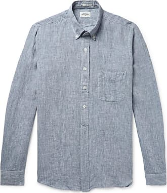 Hartford Sander Slim-fit Linen Shirt - Navy
