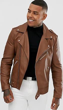 Veste de motard droite noire en simili cuir Ultimate Tall