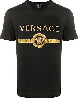 Versace Camiseta com estampa de logo - Preto