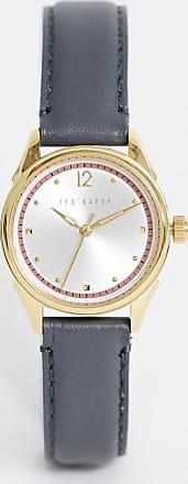Ted Baker Luchiaa leather watch in grey