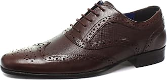 Red Tape CARLOW Mens Leather Lace Up Wingtip Chisel Toe Classic Brogues Shoes