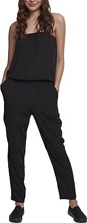 Urban Classics Womens Ladies Viscose Bandeau Jumpsuit, Black (Black 00007), M