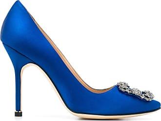Manolo Blahnik Pumps Hangisi con fibbia - Di colore blu