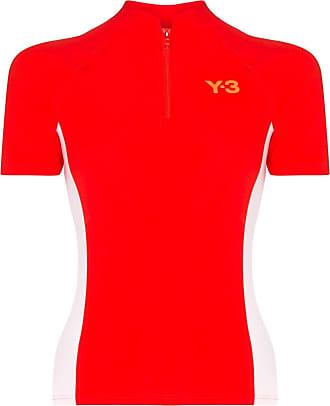 Yohji Yamamoto logo-print performance top - Red