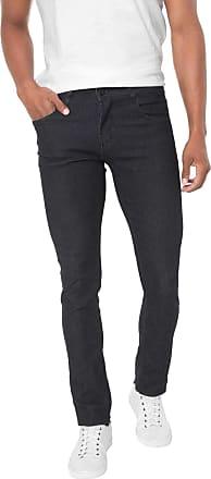 Sawary Calça Jeans Sawary Reta Lisa Azul-marinho
