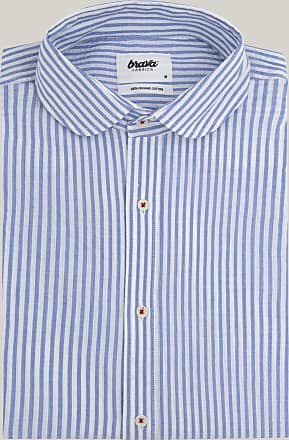 Brava Fabrics Camisa Essential - Camisa Manga Larga para Hombre - 100% Algodón Orgánico - Modelo Sakuraya Tea