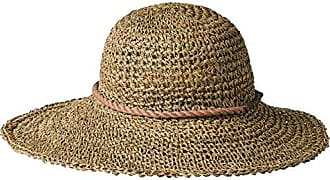 ále by Alessandra Womens Callie Crochet Sea Grass Sunhat Packable & Adjustable, Natural, One Size