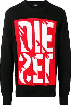 Diesel logo knit sweater - Black