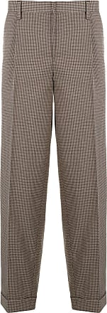 Kolor houndstooth patterned pleated trousers - NEUTRALS