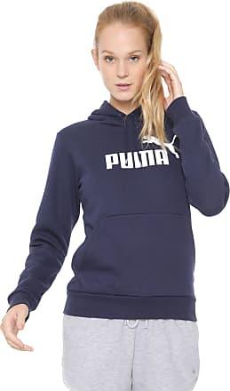 46029f5404b50 Puma Moletom Flanelado Fechado Puma Essentials Fleece Hoody Azul-marinho
