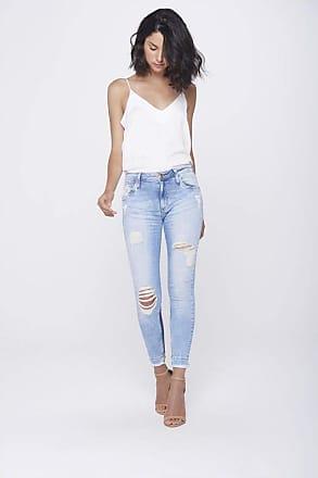 Damyller Calça Jegging Jeans Cropped Destroyed Tam: 42 / Cor: BLUE