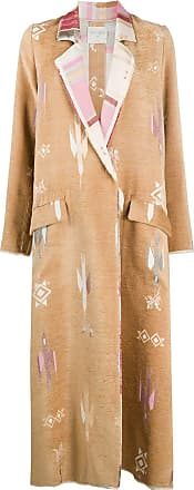 Forte_Forte embroidered single-breasted coat - Neutrals