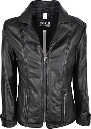 SUPERDRY Damen Leder Jacke gefüttert warm echt Leder Tailliert leicht Größe XS