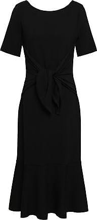 Oscar De La Renta Oscar De La Renta Woman Wool Stretch-ponte Fluted Dress Black Size XS