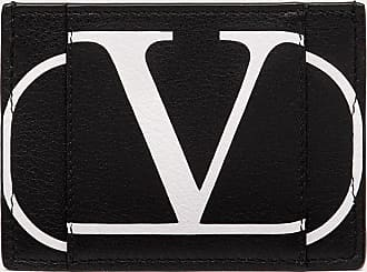 Valentino Garavani Valentino Garavani Uomo Portacarte Vlogo Signature Uomo Nero 100% Pelle Di Vitello - Bos Taurus OneSize