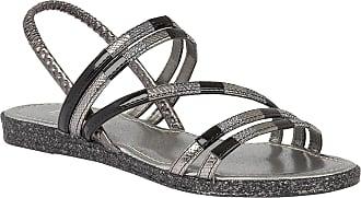 Lotus Bastia Black-Multi Elastic Flat Sandals 3
