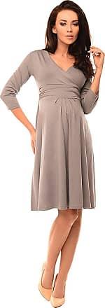 Purpless Maternity Classic Pregnancy Dress Vneck A line 4400 (18, Gray)