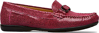 Van Dal Womens Bliss Wide E Fit Leather Loafers, Magenta Crackle Print, Size 40 EU