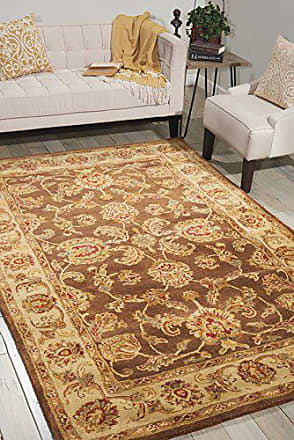 Nourison Jaipur (JA23) Brown Rectangle Area Rug, 7-Feet 9-Inches by 9-Feet 9-Inches (79 x 99)