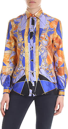 b22e3b41bcd Versace Collection Printed shirt with blue and orange print