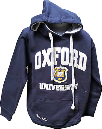 Oxford University Official Hoody - Official Apparel of The Famous University of Oxford Navy White