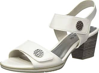 Jana Womens 8-8-28328-24 Ankle Strap Sandals, White (White 100), 6.5 UK