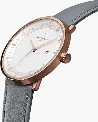Nordgreen Philosopher - Rose Gold | Grey Leather - 36mm / Rose Gold