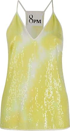 8pm Blusa gola V com estampa tie-tye - Amarelo