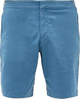 Orlebar Brown Dane Ii Cotton-blend Twill Shorts - Mens - Blue