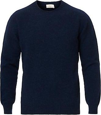 Altea Shetland Crew Neck Sweater Navy