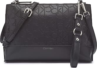 Calvin Klein Womens Sonoma Crossbody, Black Emboss, One Size
