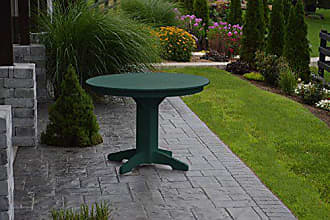 A & L Furniture A & L Furniture 4141W/OHOLE-TG Turf Green Round Dining Table Without Hole, 44, Turf Green