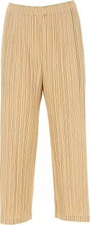 Issey Miyake Pants for Women On Sale, Beige, polyester, 2017, Universal size