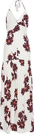 Animale Vestido Longo Floral Animale - Off white