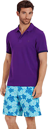 Vilebrequin Men Cotton Polo Shirt Solid - Plum - XXL