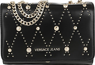 ed5db58ffd Versace Jeans Couture Studded Chain Crossbody Bag Black Umhängetasche  schwarz