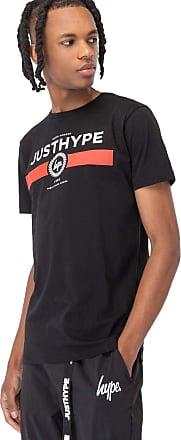 Hype Black Red Line Mens T-Shirt