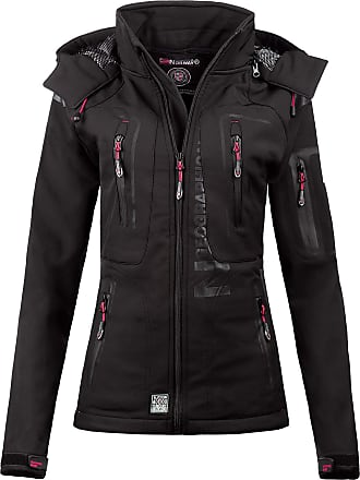 Geographical Norway Womens Softshell Leisure Jackets - Black - XX-Large