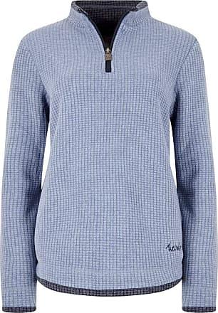 Weird Fish Beyonce 1/4 Zip Grid Fleece Sweatshirt Light Blue Size 10
