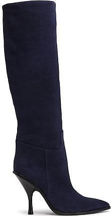 9d85ae3c8816 Sigerson Morrison Sigerson Morrison Woman Suede Knee Boots Navy Size 38.5