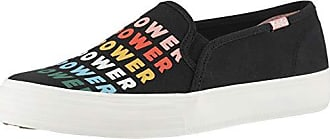 Keds Womens Double Decker Empower Shoe, Black Multi, 6.5 M US