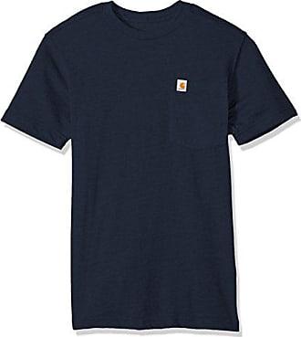 Carhartt Work in Progress Mens Tall Size Maddock Pocket Short Sleeve T-Shirt, Navy, 3XL