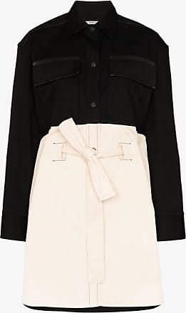 Zilver Womens Black Two Tone Belted Shirt Dress