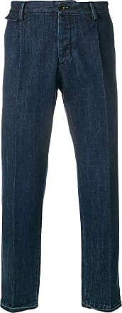 PT01 pressed straight leg jeans - Blue