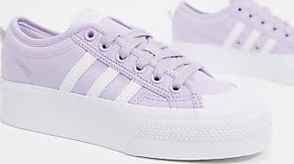 adidas Originals Nizza - Sneaker mit Plateausohle in Lila und Weiß
