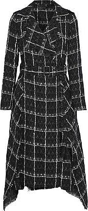Roland Mouret Roland Mouret Woman Kennedy Belted Checked Cotton-blend Tweed Coat Black Size 10