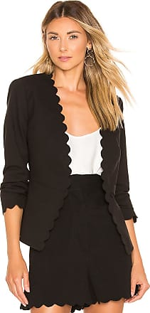 Rebecca Taylor Scallop Suit Jacket in Black