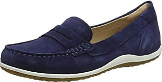 Geox Womens Vega 1 Suede Walking Penny Loafer Blue, 36, 5 Medium EU (6.5 US)