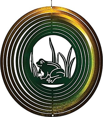 Great World Company StealStreet 83026 12 Smiling Frog on Lily Pad Zephyr Spiral Wind Spinners