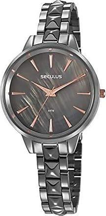Seculus Relógio Seculus Feminino Ref: 77029lpsvss3 Fashion Black